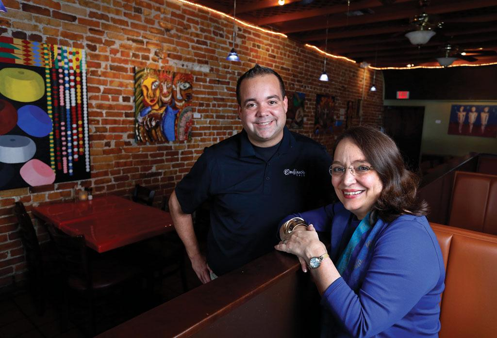 Diego and Wanda Ibanez, owner managers of Emilianos Cafe